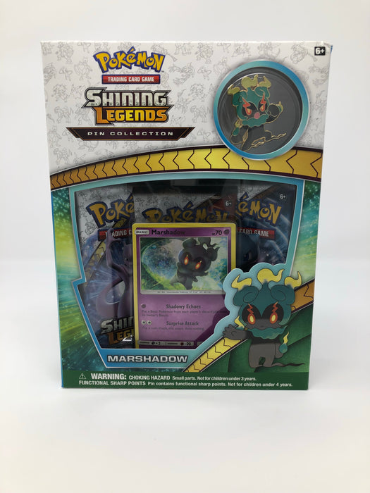 Pokemon Shining Legends Pin Collection Box - Marshadow Pokemon | Cardboard Memories Inc.