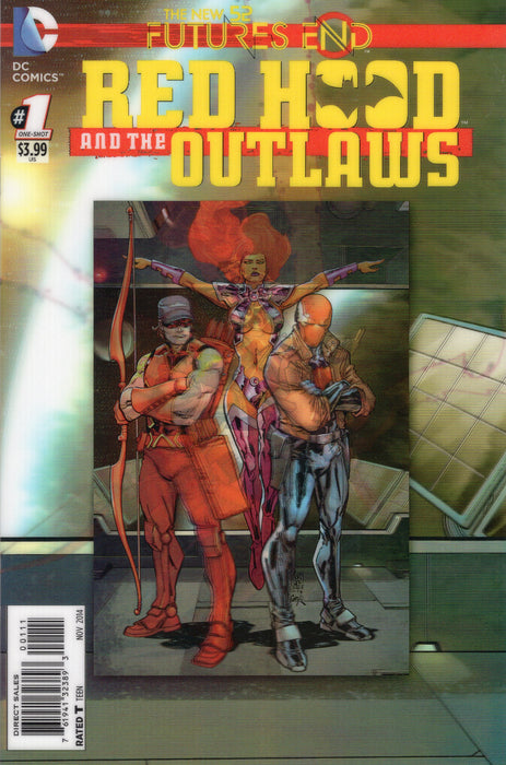 DC Comics - THE NEW 52 FUTURES END RED HOOD AND THE OUTLAWS 1 - 3D Cover