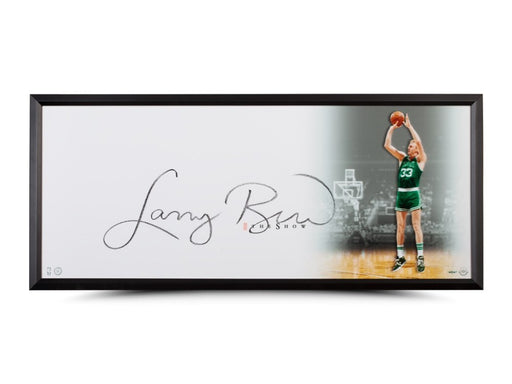"Upper Deck Authenticated - Larry Bird Autographed ""The Show"" 46x20 Framed (Pre-Order) Upper Deck 