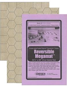 Chessex - Reversible Megamat - 1-inch Square and 1-inch Hex 34 1/2 x 48
