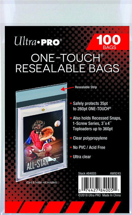 Ultra Pro - Magnetized One Touch - Resealable Bags