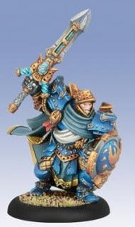 Warmachine- Cygnar Stormblade Captain PIP 31101 Privateer Press | Cardboard Memories Inc.