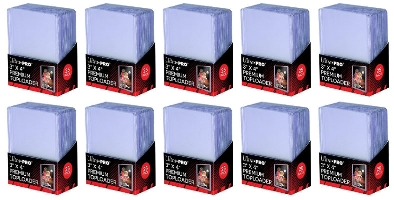 Ultra Pro Top Loaders - 3x4 Premium (10-Pack Combo) Ultra Pro | Cardboard Memories Inc.