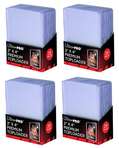 Ultra Pro Top Loaders - 3x4 Premium (4-Pack Combo) Ultra Pro | Cardboard Memories Inc.