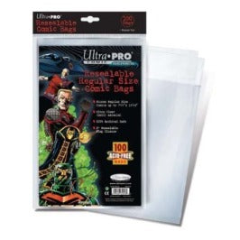 Ultra Pro Comic Series - Resealable Regular Size Comic Bags Ultra Pro | Cardboard Memories Inc.