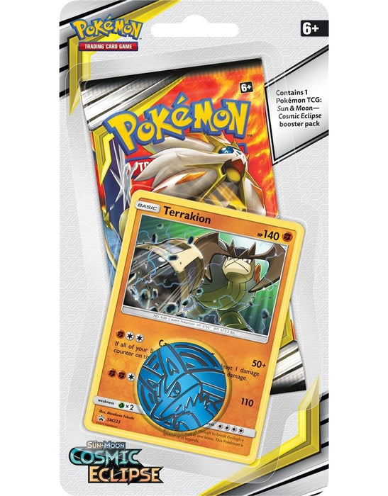 Pokemon - Sun and Moon - Cosmic Eclipse - Check Lane Blister Pack - Terrakion