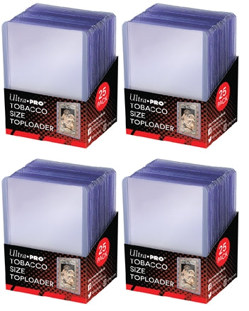 Ultra Pro Top Loaders - Tobacco Size (4-Pack Combo) Ultra Pro | Cardboard Memories Inc.