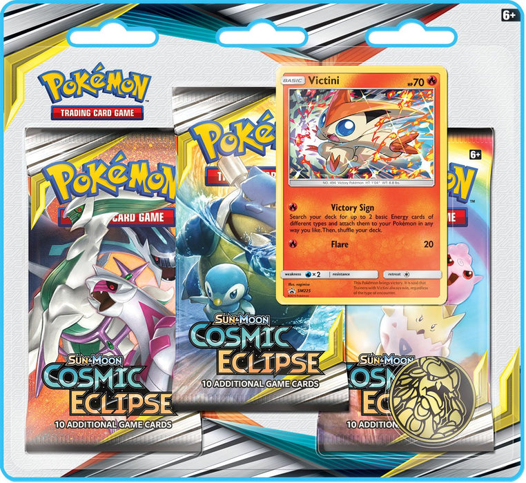 Pokemon - Sun and Moon - Cosmic Eclipse - 3-Pack Blister - Victini