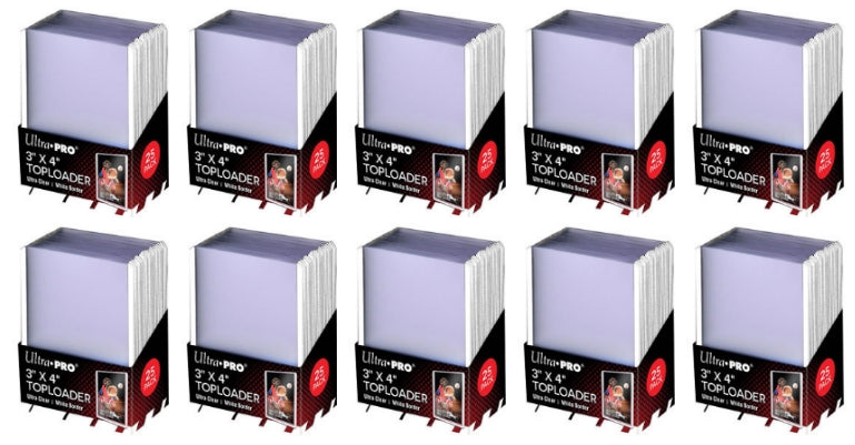Ultra Pro Top Loaders - 3x4 White Border (10-Pack Combo) Ultra Pro | Cardboard Memories Inc.
