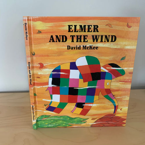 Elmer in the Wind (signed with Elmer doodle)