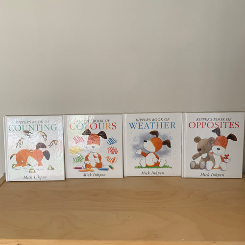 Kipper's Book of Opposites, Counting, Weather and Colours four volume set (all signed)