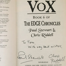 Vox. Book 6 of The Edge Chronicles. (signed)