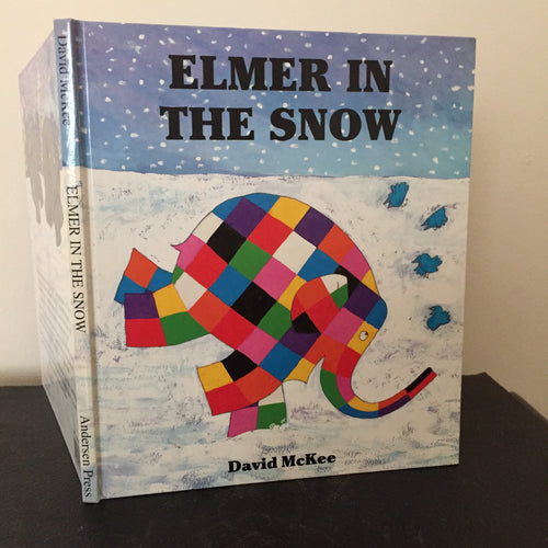 Elmer in the Snow (signed with Elmer doodle)