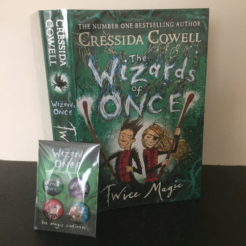 The Wizards of Once - Twice Magic (signed) plus collectors' badge set