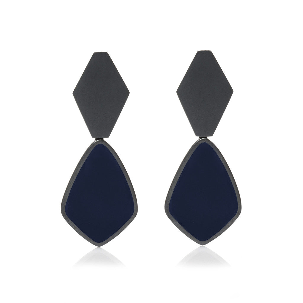 Dark Night Earrings - Diamond Shape