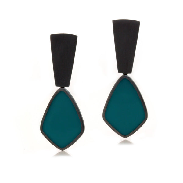 Dark Night Earrings - Teal