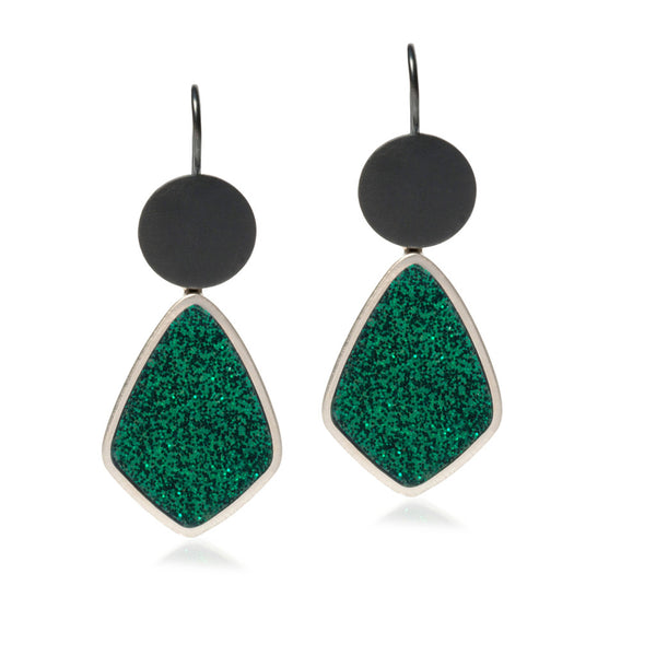 Evergreen Earrings - Diamond Shape