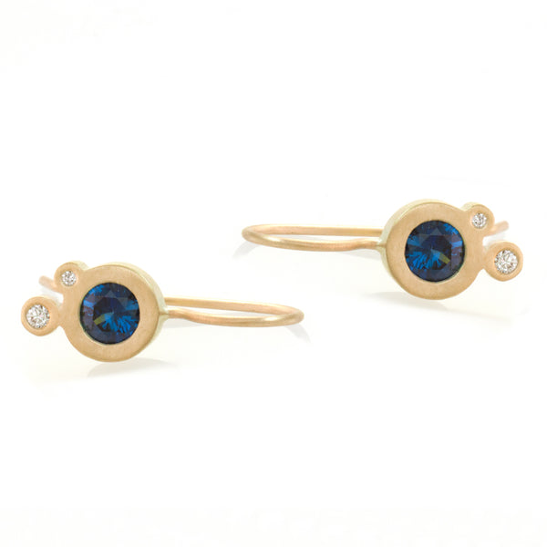 Triple Dot Earrings - Australian Sapphires