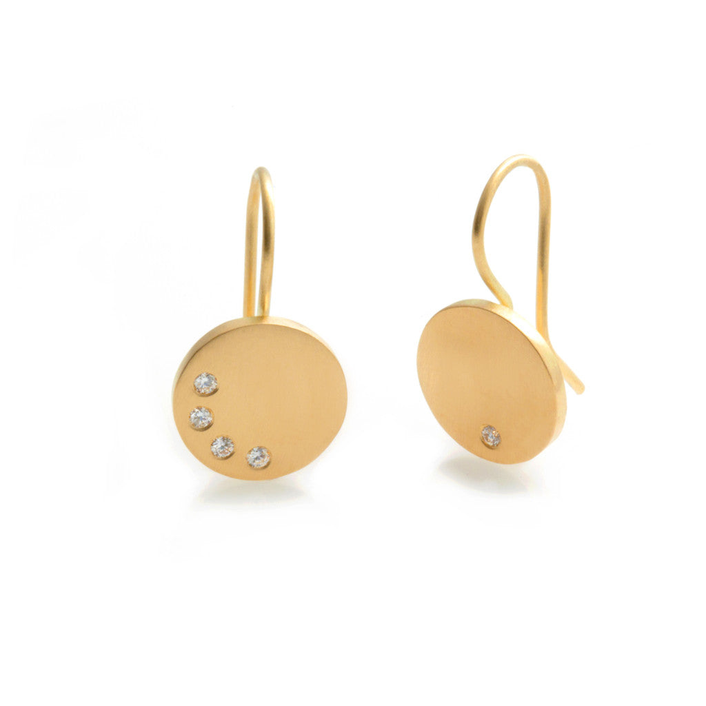Speckled Earrings - Gold & Diamonds