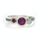 Multi Ring - White Gold & Ruby