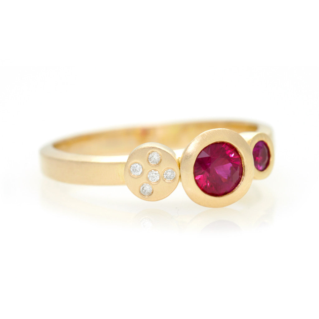 Multi Ring - Yellow Gold Ruby