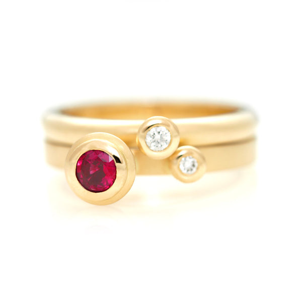 Polka Dot Rings - Ruby