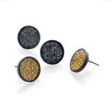 Spot Glitter Earrings - Large