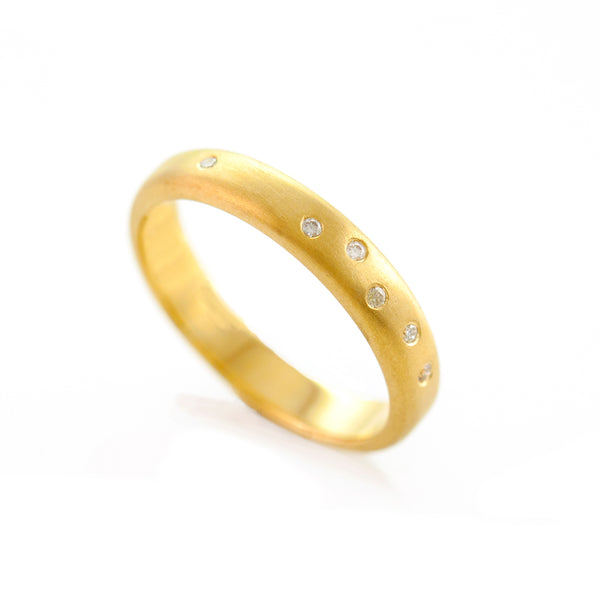 Scatter Band - Yellow Gold Ring