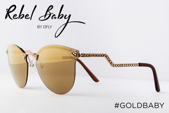 Cool Gold Mirrored Sunglasses with Swarovski Crystals