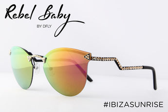 Cool Mirrored Sunglasses with Swarovski Crystals Ibiza Sunrise