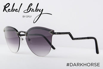 Cool Dark Horse Sunglasses with Swarovski Crystals