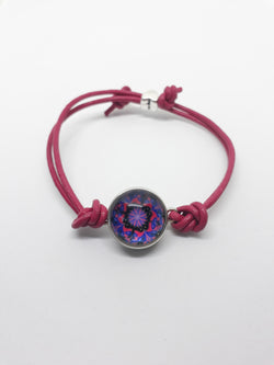 Pink Leather cord bracelet