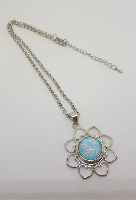 Heart Flower Pendant