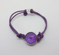 Light purple leather cord bracelet