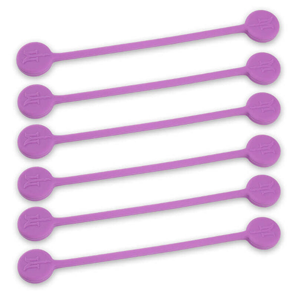 TwistieMag Magnetic Twist Ties - Single-Color 6-Pack - Choose From 20 Colors!