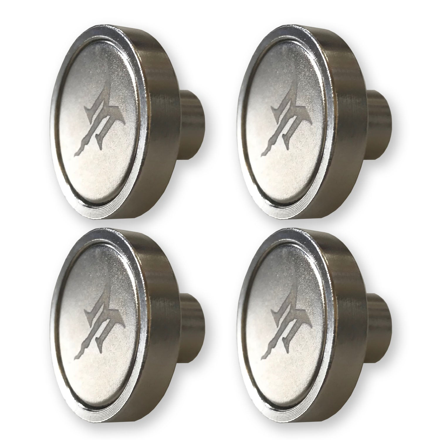HookMag 1-Inch Neodymium Magnet Base (Female M4 Threads) - 4 Pack