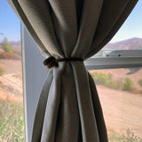 twistiemag brown magnetic curtain drapes tie back magnet