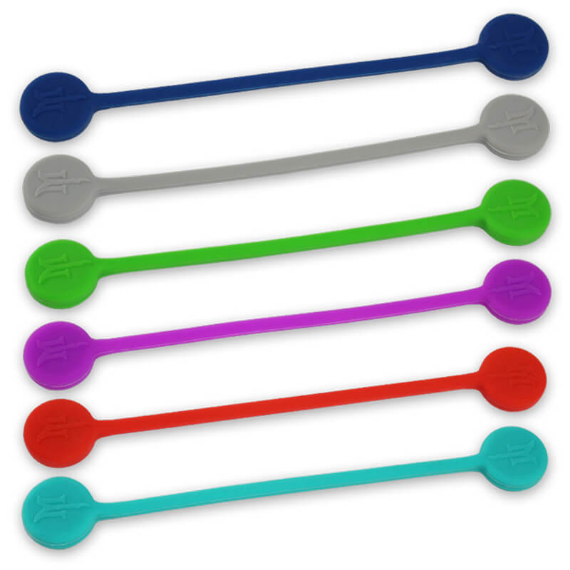 TwistieMag Magnetic Twist Ties - DIY (Build-Your-Own) 6-Pack - Choose From 20 Colors!