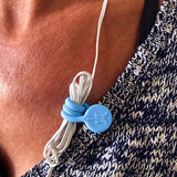 TwistieMag Cornflower Blue Earphone Cord Magnet Shirt Clip