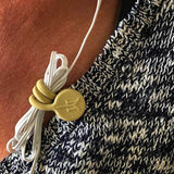 TwistieMag Tan Magnetic earphone cord magnet clip