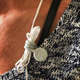 TwistieMag Gray Magnetic Earphone Cord Wire Shirt Clip Magnet