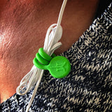 TwistieMag Green Magnetic Earphone Earbud Cord Shirt Clip Magnet