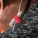 monster magnetics twistiemag hot pink earphone earbud magnet clips