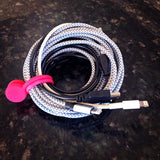 twistiemag hot pink cord and cable organizers