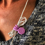 TwistieMag Lavender Light Purple Earphone Magnetic Shirt Clip