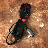 twistiemag red magnetic hair dryer brush cord organizer strap