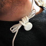 twistiemag white magnetic earphone cord shirt clip holder for gym