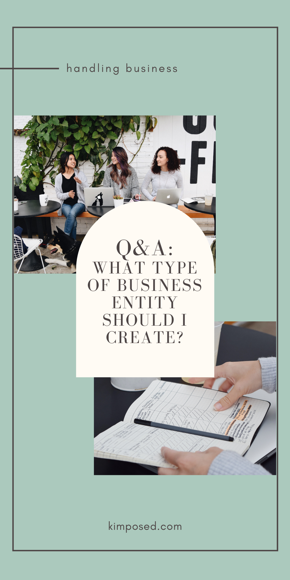 QA: What Type of Business Entity Should I Create?