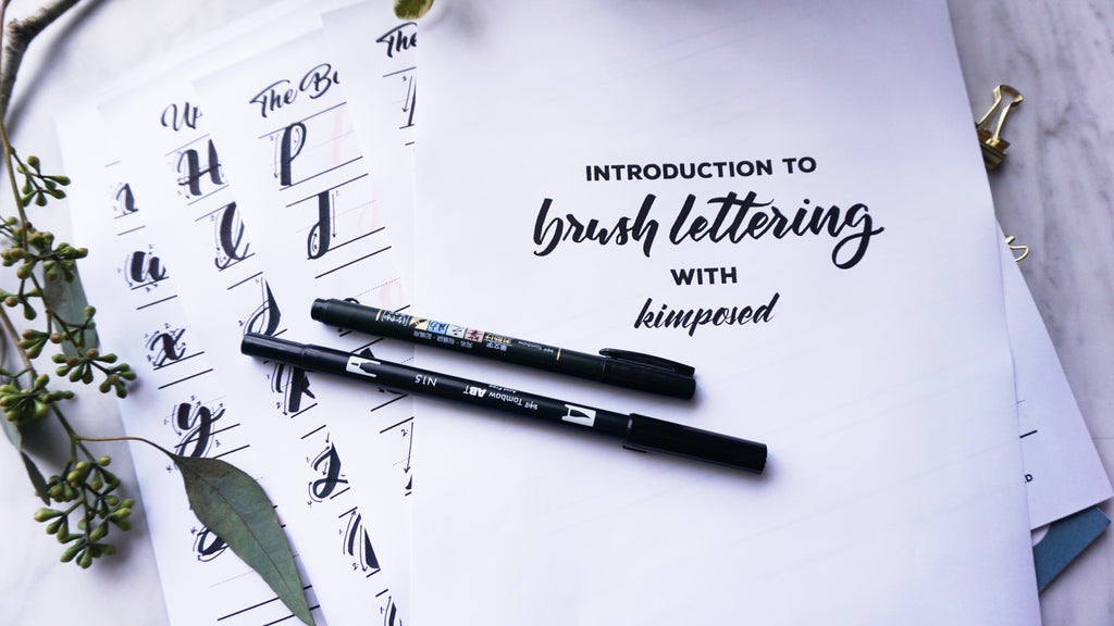 Intro to Brush Lettering Workbook 1.0