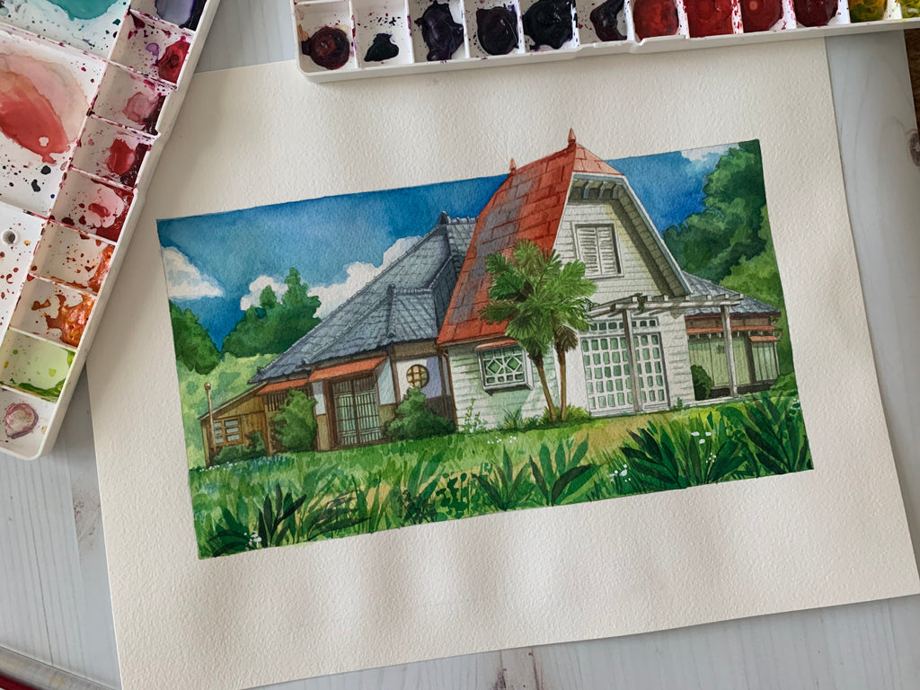 My Neighbor House Original Painting